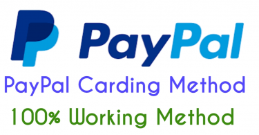 Paypal carding method